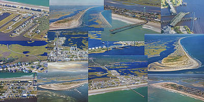 Topsail Island History From Above  Poster by Betsy Knapp
