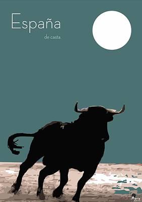 Toro Bravo  Poster by Quim Abella