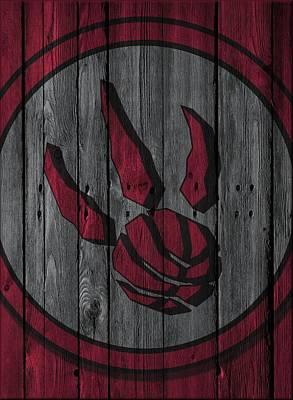 Toronto Raptors Wood Fence Poster by Joe Hamilton