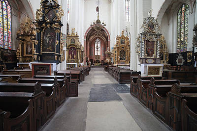 Torun Cathedral Interior In Poland, Poster by Artur Bogacki