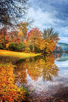 Touch Of Autumn Poster by Debra and Dave Vanderlaan