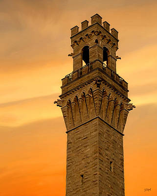 Tower Aglow Poster by Sue  Brehant