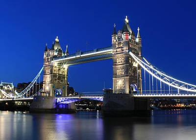 Tower Bridge At Night Poster by Jasna Buncic