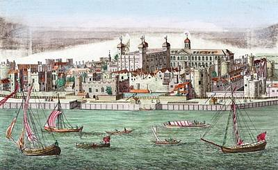 Tower Of London, Historical Artwork Poster by Miriam And Ira D. Wallach Division Of Art, Prints And Photographsnew York Public Library