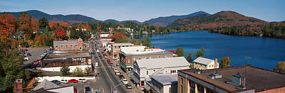 Town Of Lake Placid In Autumn, New York Poster by Panoramic Images