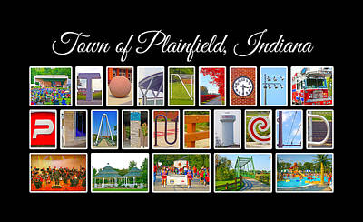 Town Of Plainfield Indiana Poster by Dave Lee