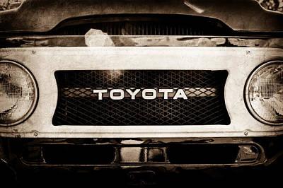Toyota Land Cruiser Grille Emblem  -0589s Poster by Jill Reger