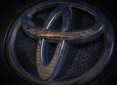 Toyota Rav 4 Emblem Poster by Larry Helms