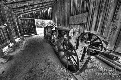 Tractor In Port Oneida Poster by Twenty Two North Photography