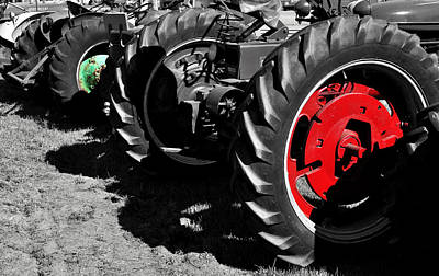 Tractor Wheels Poster by Luke Moore