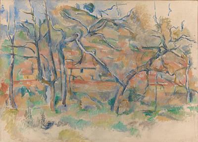 Traer Og Hus, Provence Ca. 1885 Poster by Paul Cezanne