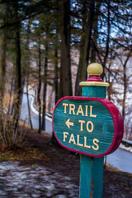Trail To Falls Poster by Carlos Ruiz