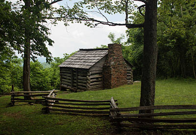 Trails Cabin At Smart View Loop On The Blue Ridge Parlway II Poster by Suzanne Gaff
