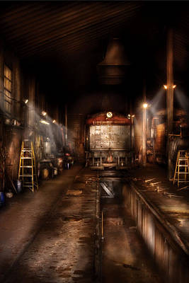 Train - Yard - Train 89 - In The Workshop  Poster by Mike Savad