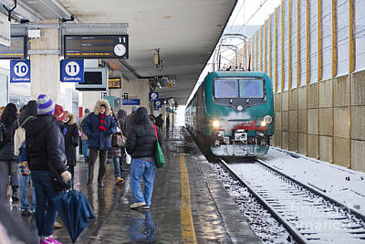 Train Station Under The Snow Poster by Andre Goncalves