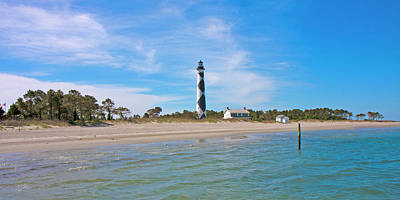 Tranquil Day Cape Lookout Lighthouse 2 Poster by Betsy Knapp