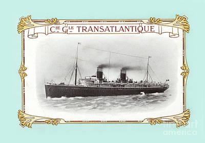 Transatlantique Poster by Delphimages Photo Creations