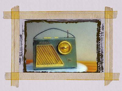 Transistor Radio Poster by Dominic Piperata