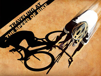 Traveling At The Speed Of Bike Poster by Sassan Filsoof