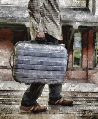 Traveling Man Poster by Edward Fielding