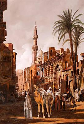 tre cammelli in Egitto Poster by Guido Borelli