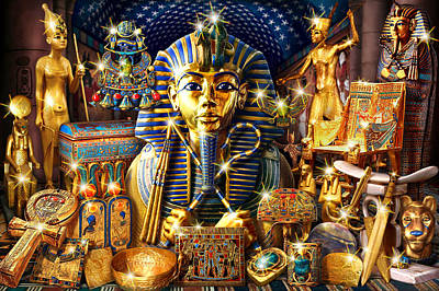 Treasures Of Egypt Poster by Andrew Farley