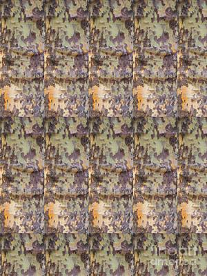 Tree Bark Design Pattern Photo Taken At Central Park New York Usa By Navinjoshi Fineartamerica Pixel Poster by Navin Joshi