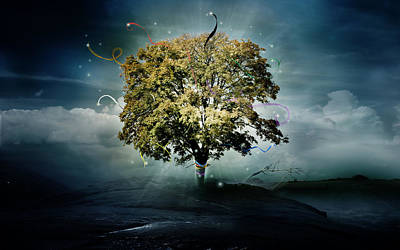 Tree Of Hope Poster by Mary Hood