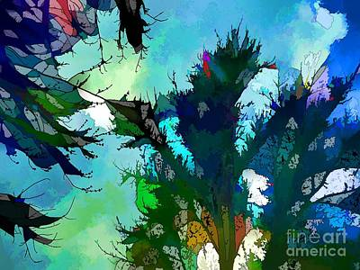 Tree Spirit Abstract Digital Painting Poster by Robyn King