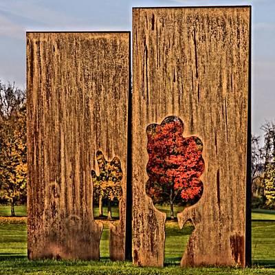 Trees In Silhouette Poster by DJ Florek