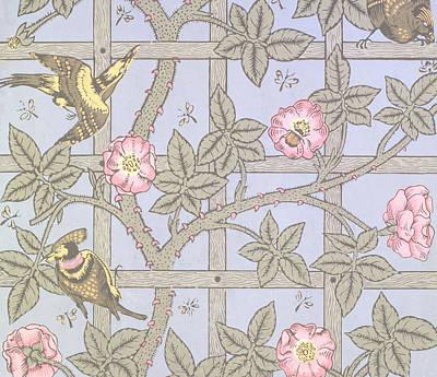 Trellis   Antique Wallpaper Design Poster by William Morris
