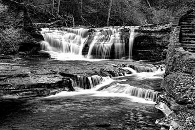 Treman Cascades #2 Poster by Stephen Stookey