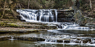 Treman Cascades #4 Poster by Stephen Stookey