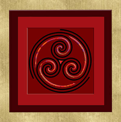 Tribal Celt Triple Spiral Poster by Kandy Hurley