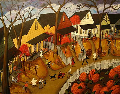 Trick Or Treat 2012 Poster by Debbie Criswell