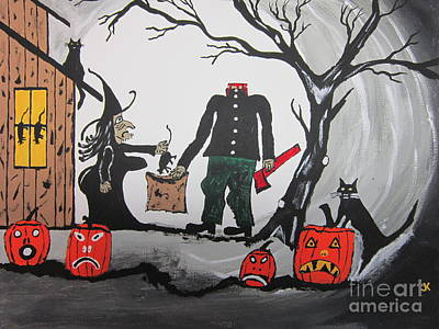 Trick Or Treat. Poster by Jeffrey Koss