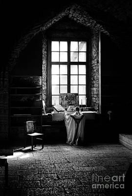 Tridentine Mass In An Ancient Chapel In The Old Dominican Monastery In Tallinn Poster by RicardMN Photography