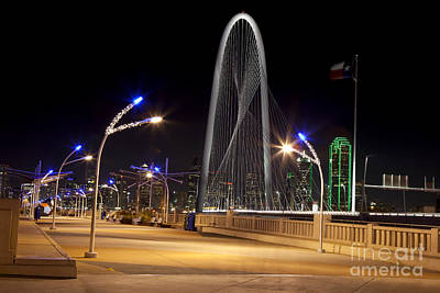 Trinity Sky Bridge In Downtown Dallas, Texas Poster by Anthony Totah