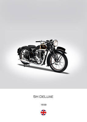 Triumph 5h Deluxe Poster by Mark Rogan
