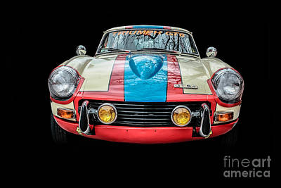 Triumph Gt 6 Plus Race Car Poster by Edward Fielding