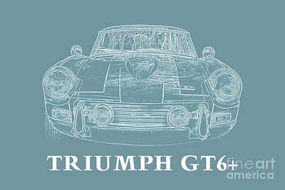 Triumph Gt6 Plus Poster by Edward Fielding