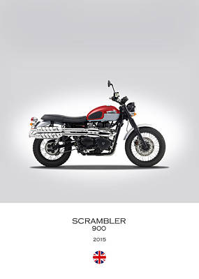 Triumph Scrambler 2015 Poster by Mark Rogan