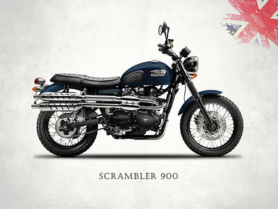 Triumph Scrambler 900 Poster by Mark Rogan