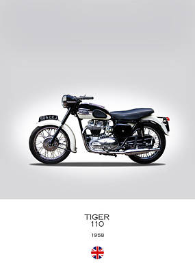 Triumph Tiger 1958 Poster by Mark Rogan
