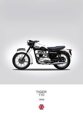 Triumph Tiger 1959 Poster by Mark Rogan