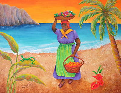 Tropical Harvest Poster by Pamela Allegretto