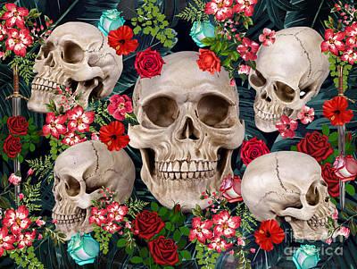 Tropical Skull  Poster by Mark Ashkenazi