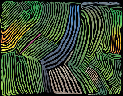 Tropical Striations Poster by Kevin McLaughlin