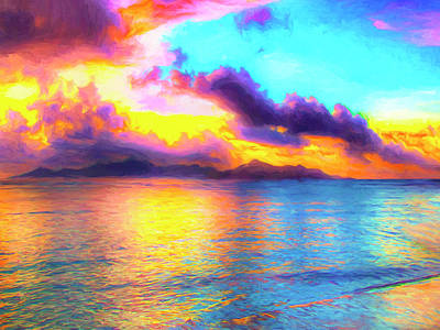 Tropical Sunset Poster by Dominic Piperata