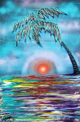 Tropical Sunset Poster by Laura Barbosa